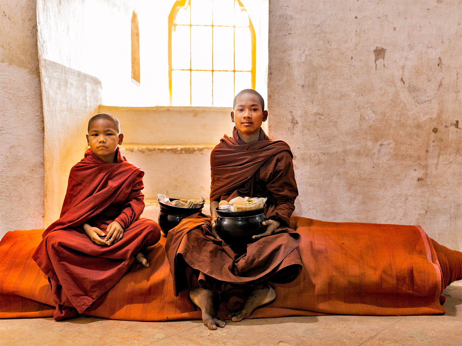 myanmar-two young monks